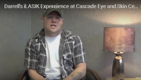 Click to enlarge photo of Darrell's iLASIK Expereience at Cascade Eye and Skin Centers